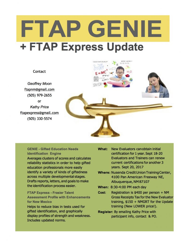 FTAP GENIE + FTAP Express Update Training Flyer
