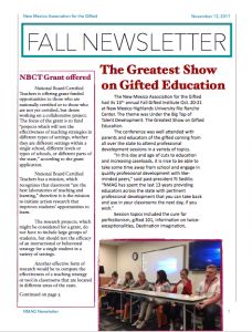 Thumbnail of Late Fall 2017 Newsletter