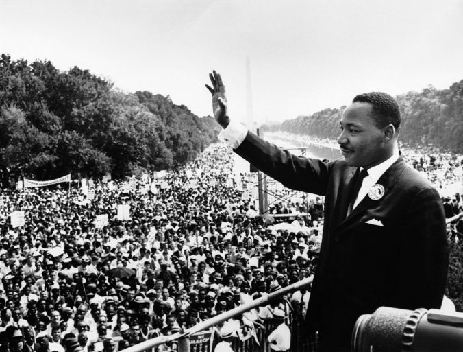 Historical Photo of Dr. Martin Luther King Junior at the March on Washington