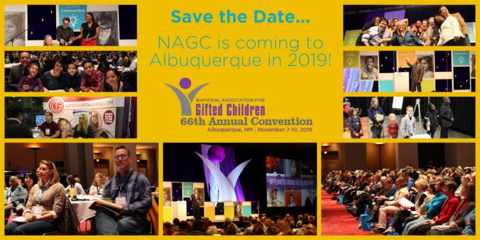 NAGC 2019 Save the Date Poster