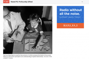 Screen shot from NPR's A1 Rated PG Profoundly Gifted Podcast